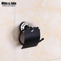 Bathroom black Toilet Paper Holder Roll Holder,Tissue Holder,Solid Brass Bathroom Accessories Products