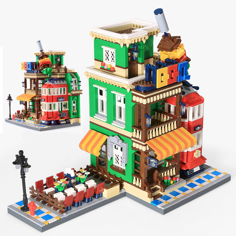 Diy Building Blocks Architecture Creator BBQ Restaurant Store Model City Cafe Corner Shop Compatible with Legoingly Toys GiftDiy Building Blocks Architecture Creator BBQ Restaurant Store Model City Cafe Corner Shop Compatible with Legoingly Toys Gift
