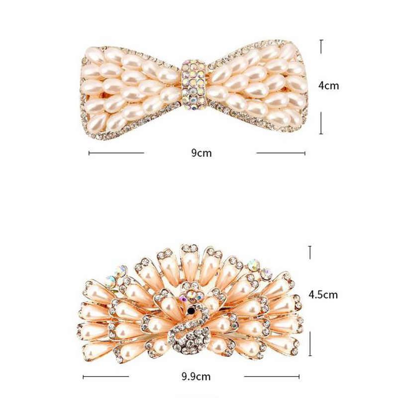 Dijual 2018 1 Pc Korea Yang Unik Viscose Simulasi Mutiara Pin Rambut Anggun untuk Putri Putri Pesta Pernikahan