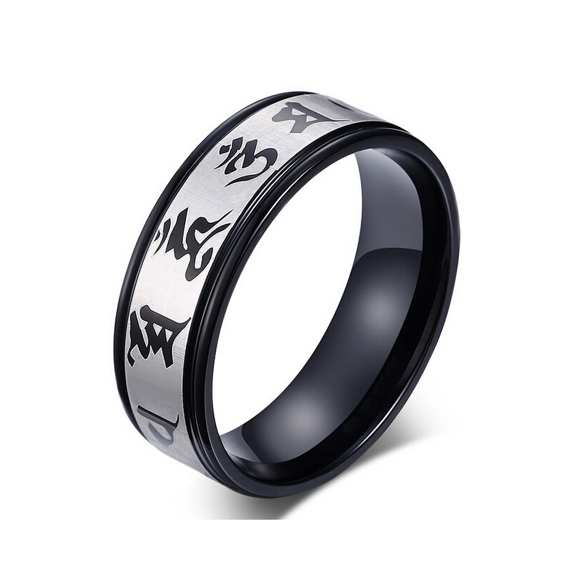 Fashion Jewelry 316L Stainless Steel Rings scripture Boys Rings ...
