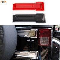 2 шт. задняя дверь багажника запасная крышка шарнира шины накладка протектор для Jeep Wrangler JK 2007-2017