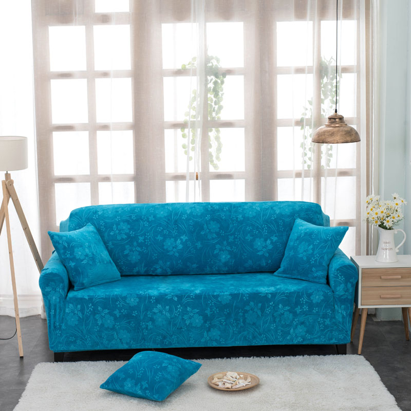 SunnyRain 1-Piece  Thick Velvet Embossing Pattern Elastic Sofa Cover For Couch Slipcover Case For Sofa Elastic Cover For SofaSunnyRain 1-Piece  Thick Velvet Embossing Pattern Elastic Sofa Cover For Couch Slipcover Case For Sofa Elastic Cover For Sofa