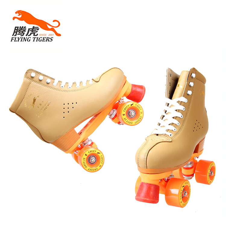 Double row cowhide leather ice skates professional outdoor fancy adult men and women outdoor shoes roller shoes lk722 genuine leather double row skates adult flashing roller skates playground roller skating for women 100kg bearing