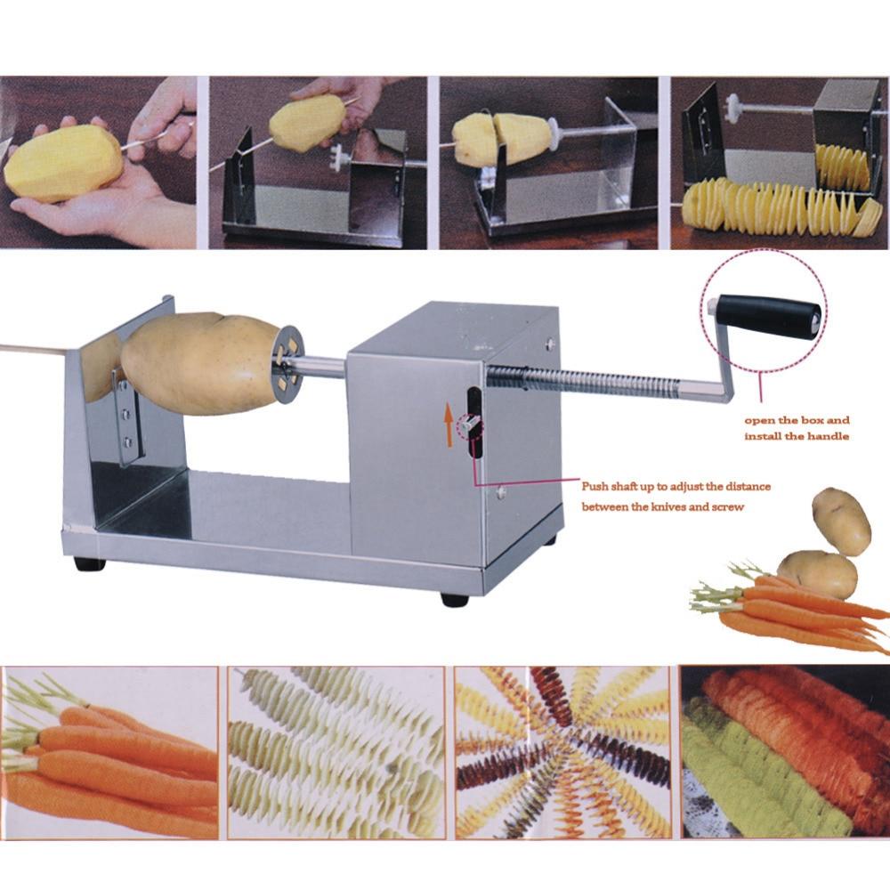 Potato strip cutter machine spiral cutting chips slitter Kitchen Gadget Accessor