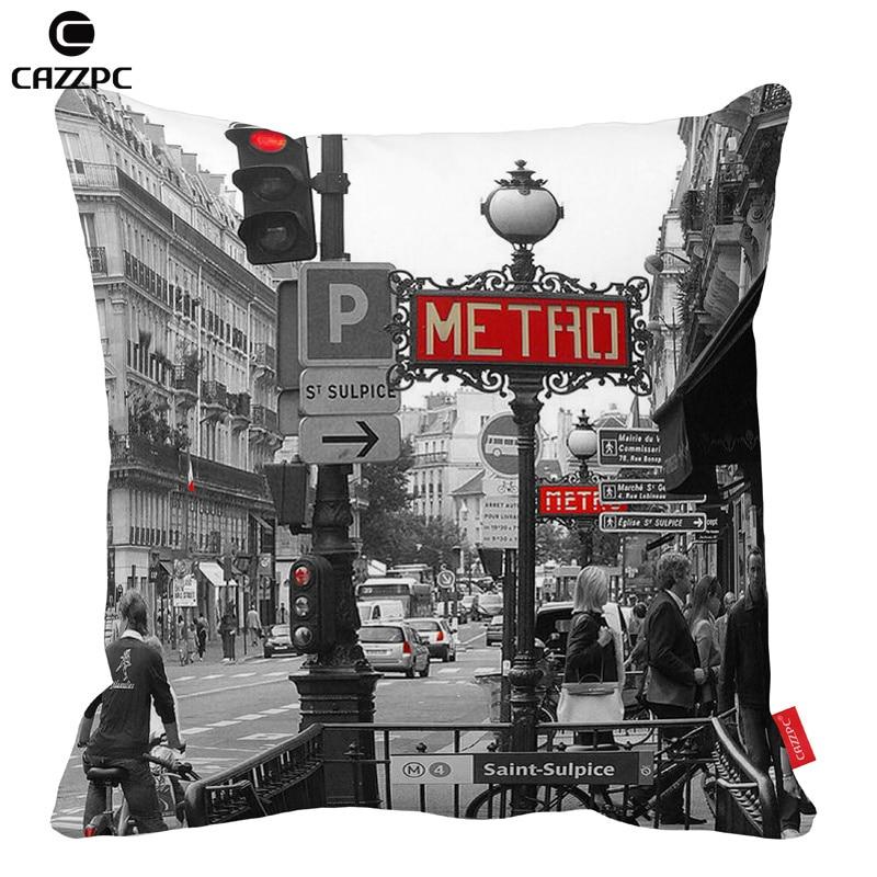 Vintage black and white style Paris Metro Car Decorative Throw Pillowcase  Pillow cases Cushion Covers Sofa Chair Home Decor. Online Get Cheap Metro Homes  Aliexpress com   Alibaba Group