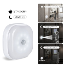 Foxanon LED Night Light With PIR Sensor Under Cabinet Light Wireless Smart Lamp For Warbrobe Closet Stair Bedroom Kitchen White