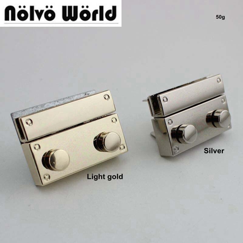 20sets 28*41mm High Qulity Lock Woman Bag Making Metal Push Lock Briefcase Square Lock Hardware 10sets