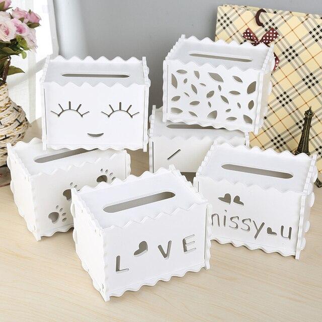 New Wooden Plastic Tissue Box Dispenser Diy Napkin Holder Paper Home