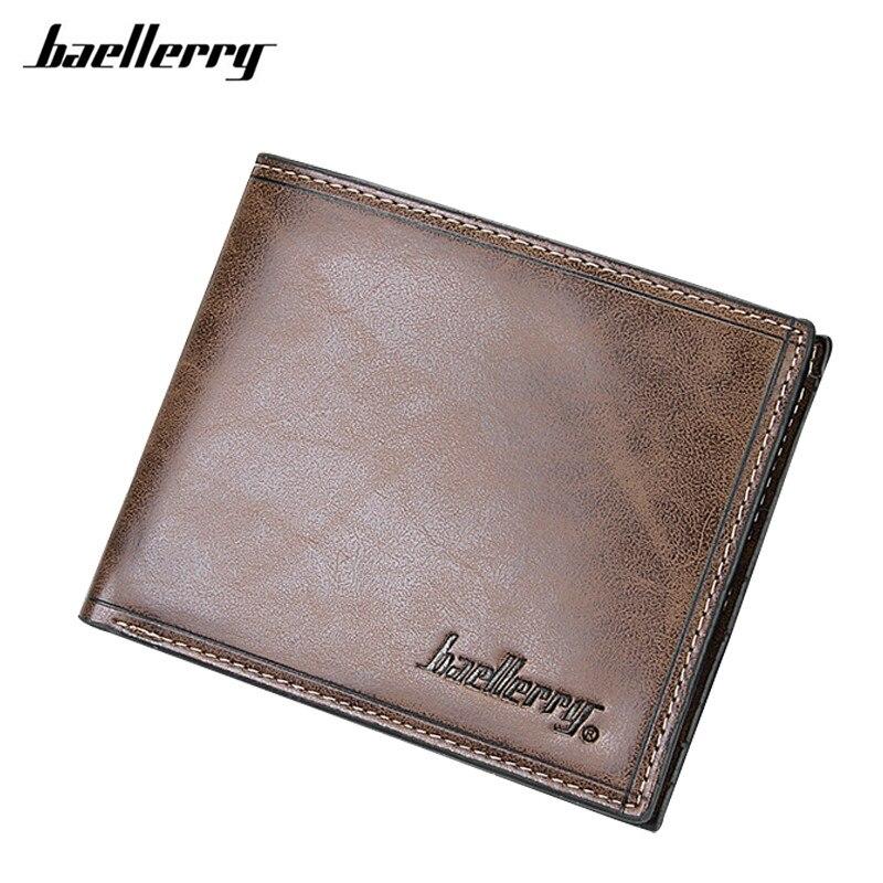 Top Pu Leather Vintage Design Purse Men Brand Card holder Wallet Men Soft Leather Purse Wallet K035 цена 2017