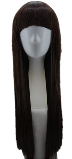 Fei Show Straight Hair Synthetic Heat Resistant Fiber Long Dark