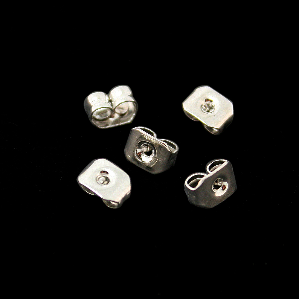 Lot Rhodium Plated Earring  Findings Cn