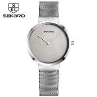 6 5mm SEKARO Luxury Brand Women Quartz Watch Relogio Feminino Bracelet Watch Lady Fashion Fashion Stainless