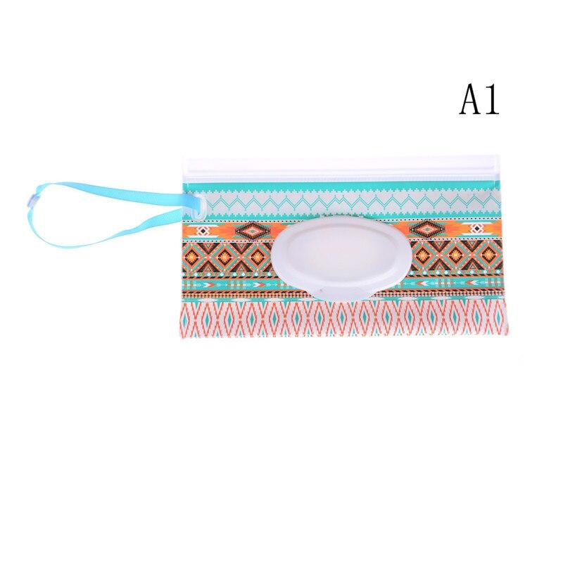 19 видов стилей, Детская сумка-клатч для салфеток, сумка-диспенсер влажных салфеток, сумка на застежке, сумка для путешествий, контейнер для влажных бумажных полотенец - Цвет: A1