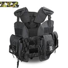 Unloading Tactical Outdoor Men Multi-pocket Camouflage Vest Military Molle Soft Body Armor Plate Carrier Hunting Waterproof Vest(China)