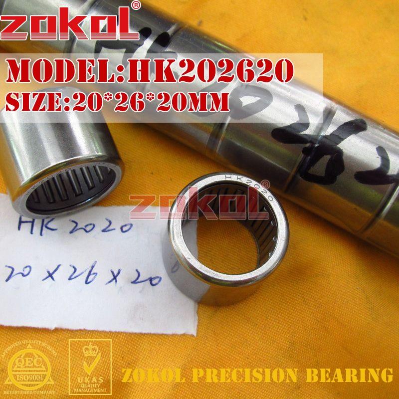 ZOKOL Bearing HK202620 HK2020 HK202625 HK2025 HK202630(HK2030 HK202720 TA2020 Needle Roller Bearing 20*26/27*20/25/30mm