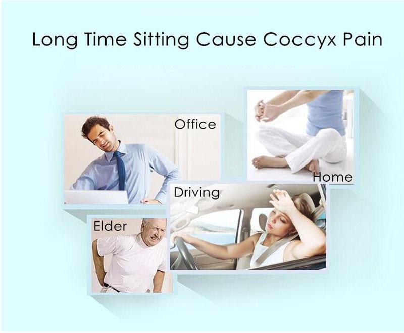 Donut Pillow Hemorrhoid Seat Cushion For Tailbone Coccyx Orthopedic Medical Seat Chair Cushion 2