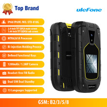 Ulefone Armor Flip Waterproof IP68 1200mAh 1.3MP Dual Sim 2.4inch+1.44inch Screen Presented New Earphone(China)