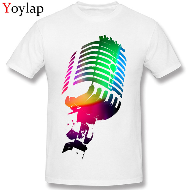 35d0ee7ccf6 Fashion Cool Men T Shirt Cotton Tops & Tees Modern Design Summer Fall Short  Sleeve O-Neck Clothing Hip-hop The Neon Microphone