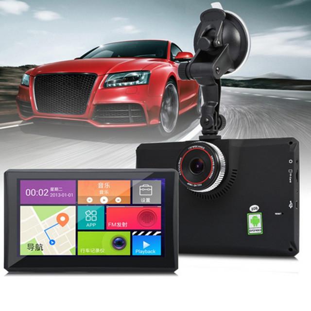 7 pulgadas Android 4.4 Bluetooth GPS de Navegación Del Vehículo Del Coche DVR Registrador de la cámara Con FM WIFI 8 GB 512 MB Camioneta Navigator Envío mapa