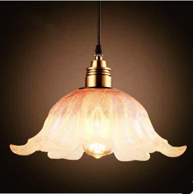 Glass Shade Nordic Loft Style Industrial Lamp Retro Lampe Vintage