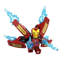 Single Avengers Infinity War Iron Man Black Widow Doctor Strange Black Panther Star-Lord Hulk building blocks toy for children