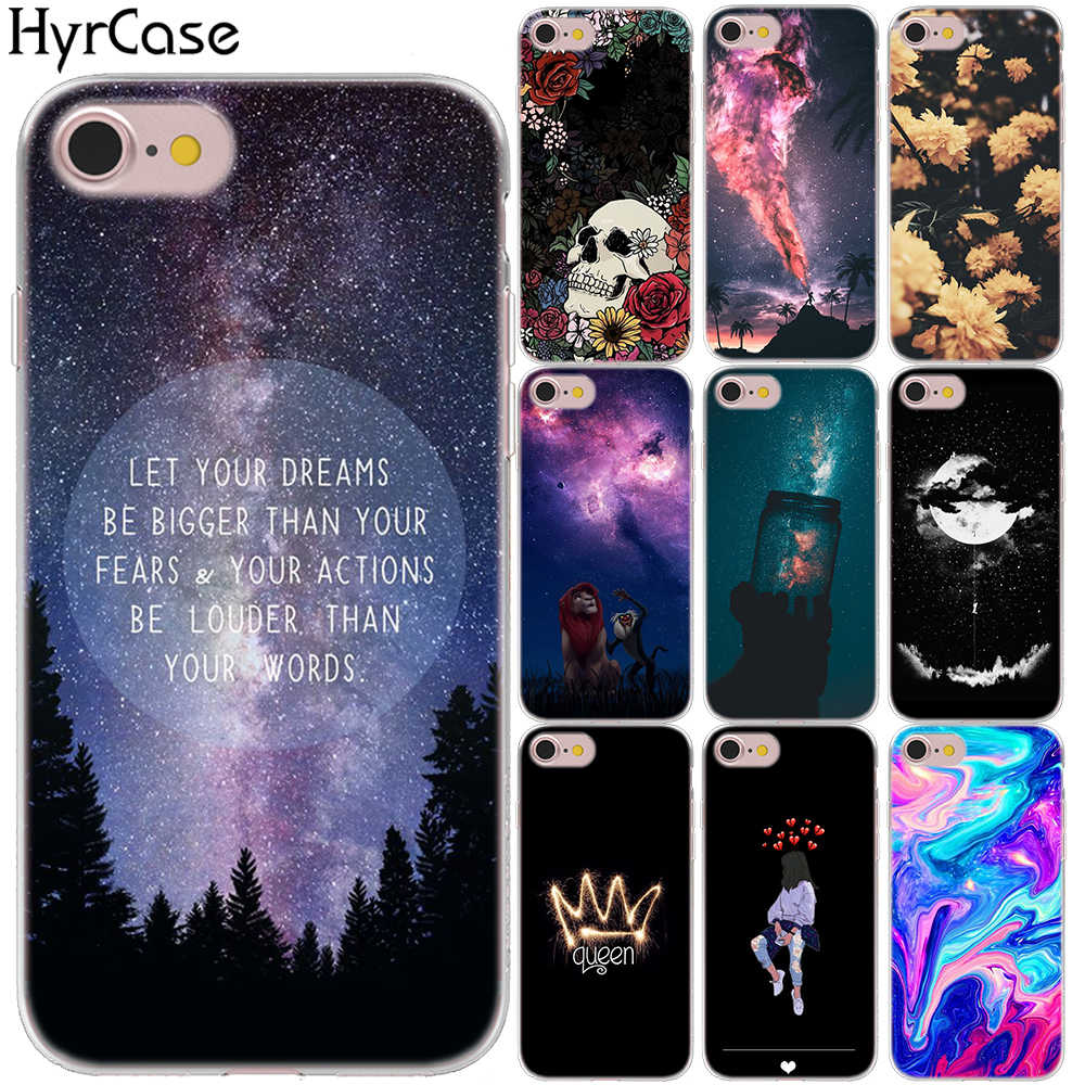 Crown Queen Scenery Floral Art Case Cover For iPhone 7 8 X XS XR XS MAX 5 5S SE 6S 6 S Soft Silicon Quotes Phone TPU Cases