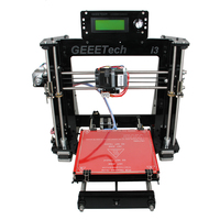 Ship from Germany Geeetech Open Source i3 Pro B 3D Printer Acrylic Frame Impressora DIY Kits 5 Materials Support