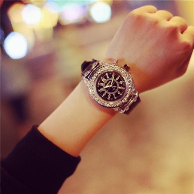 Creative LED Top Luxury Women Men Watches 2018 Fashion Sport luminous Silicone Strap Couples Watch Relogio Masculino Dress Clock