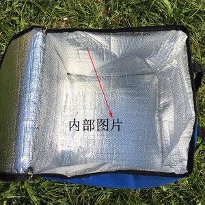 Image 4 - 14 بوصة كبيرة الحرارية حقيبة لتوصيل البيتزا سميكة حقيبة للحفاظ على البرودة معزول البيتزا حقيبة التخزين الطازجة الغذاء تسليم الحاويات 45x45x40 سنتيمتر