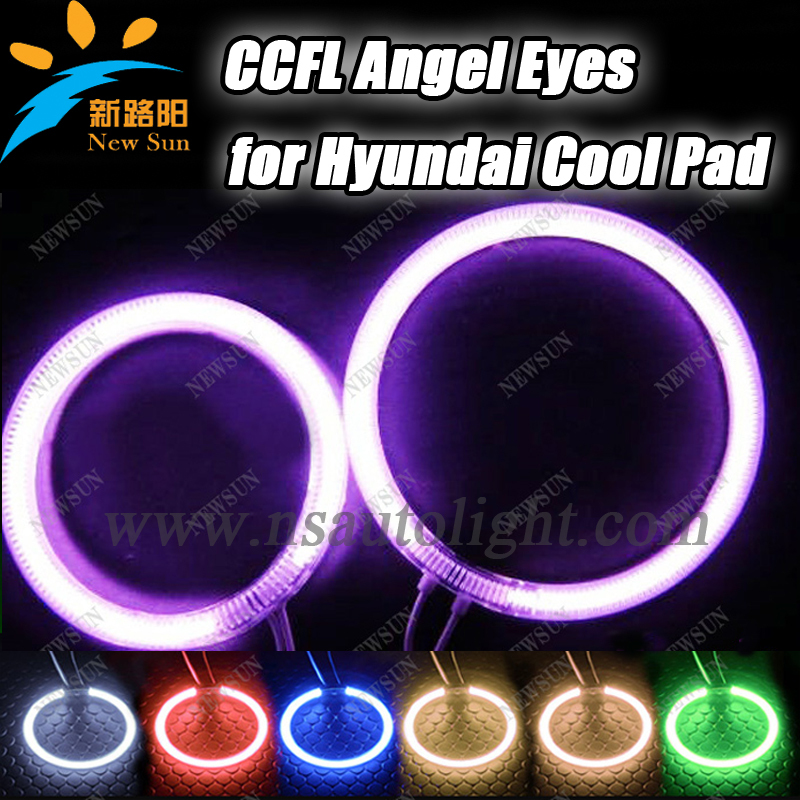 Super Bright CCFL Angel Eyes for Hyundai Cool Pad,Halo rings ,Car CCFL Angel Eyes kit,auto headlight Free shipping super bright 8000k ccfl angel eyes halo rings kit for bmw e46 non projector auto ccfl angel eye car headlights free shipping