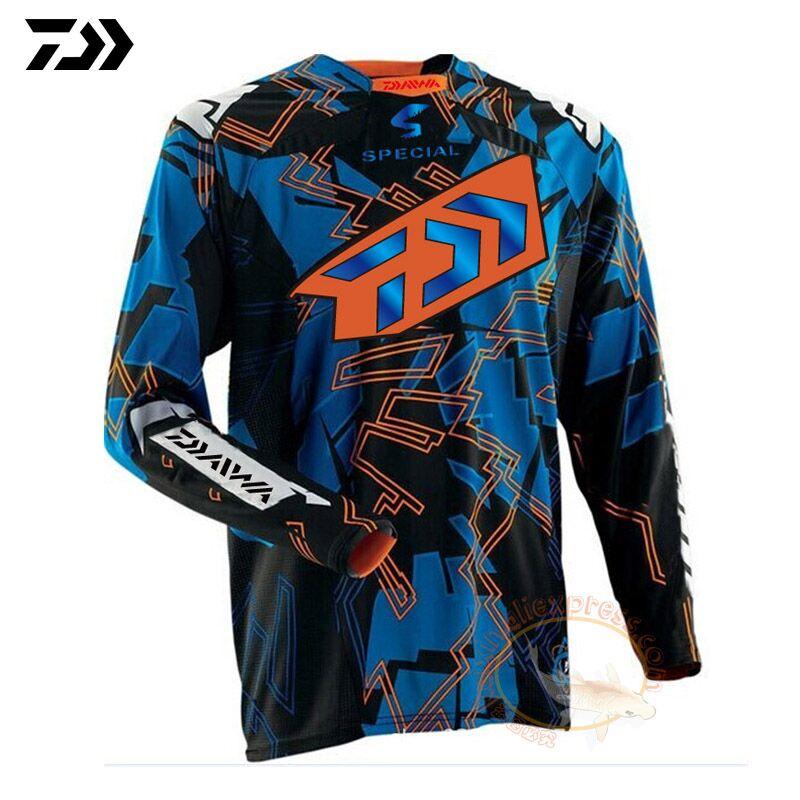 2019 DAIWA Men Fishing Clothing Ultrathin Long Sleeve Sunscreen Anti uv Breathable Coat Summer Fishing Shirt Size XS 5XL Jacket Hiking Shirts     - title=