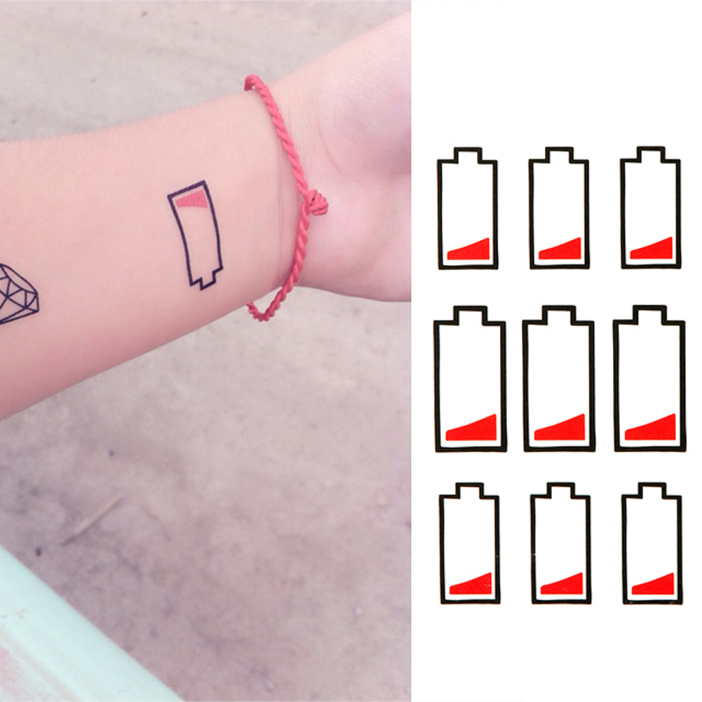 New Arrival Water Transfer Battery Temporary Tattoo Sticker Body Art Sexy Product Drop Shipping 4