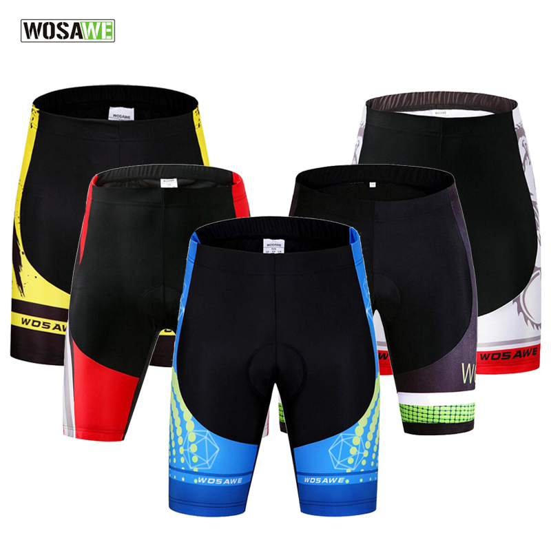 WOSAWE Men Cycling Shorts GEL Padded MTB Shorts Mountain Bike Riding Bicycle Tights Shockproof Breathable Clothing Clothes ai speed europe outdoor riding mountain bike cycling clothes ultra thin breathable split poncho raincoat portable