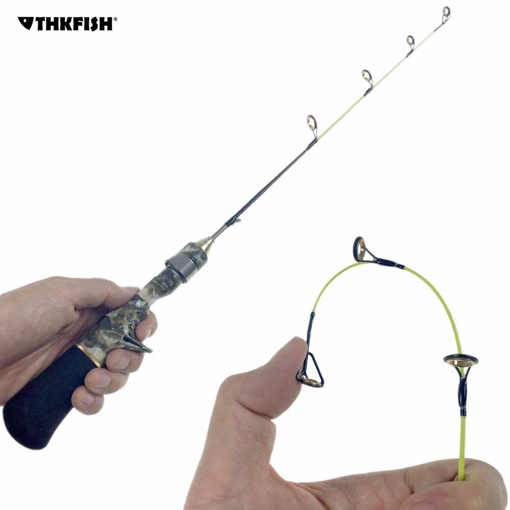Winter Ice Fishing Rod Olta 55cm 1.8ft Camouflage Camo Mini Portable Travel Fiahing Rods Bait Casting Fishing Rod Pole