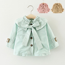 New Girls jacket childrens clothing girl trench coat kids hooded coats Winter Trench Wind Dust Hooded Outerwear
