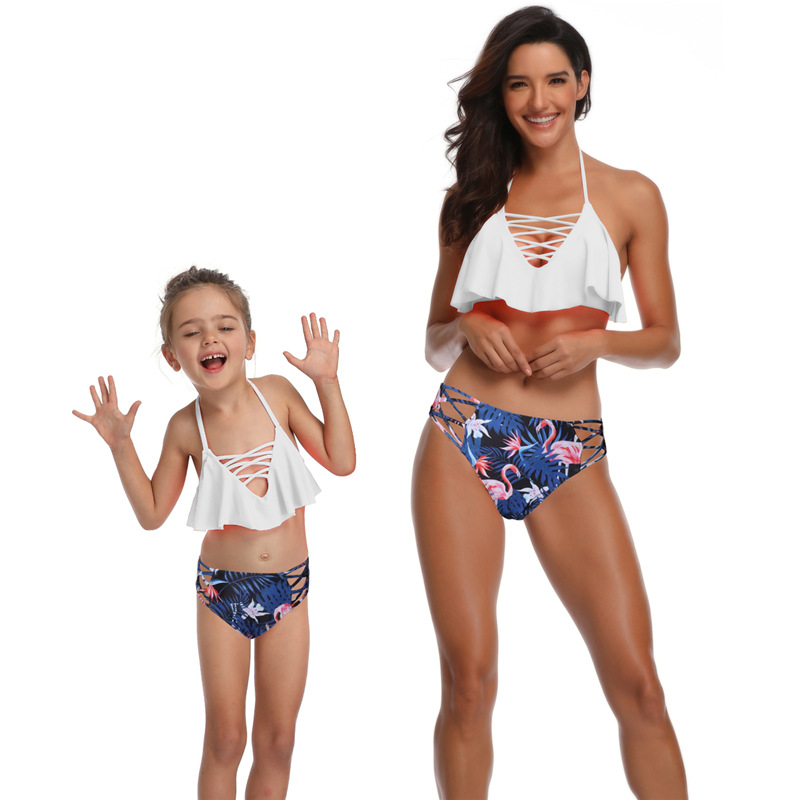 Mommy And Me Clothes Mother Kids Swimsuit Matching Family Ou