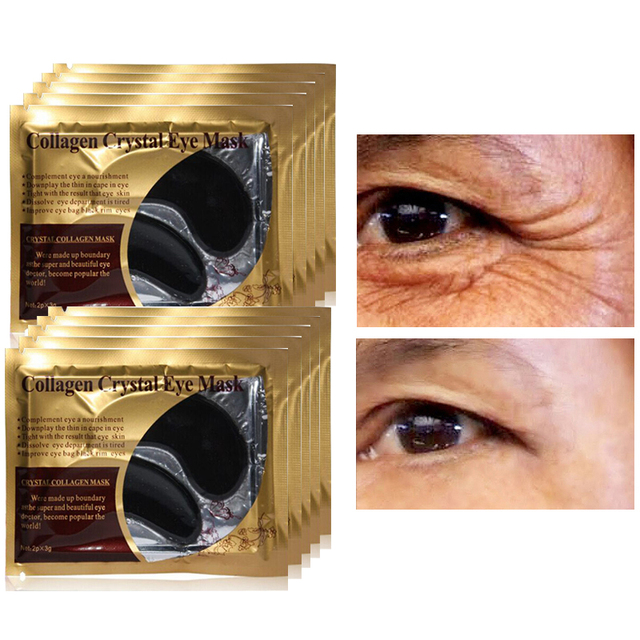 10pcs=5pair Black Crystal Collagen Eye Mask Patches for Eyes Pads Anti Dark Circle Remover Puffiness Moisturizing Eye Care Skin Care