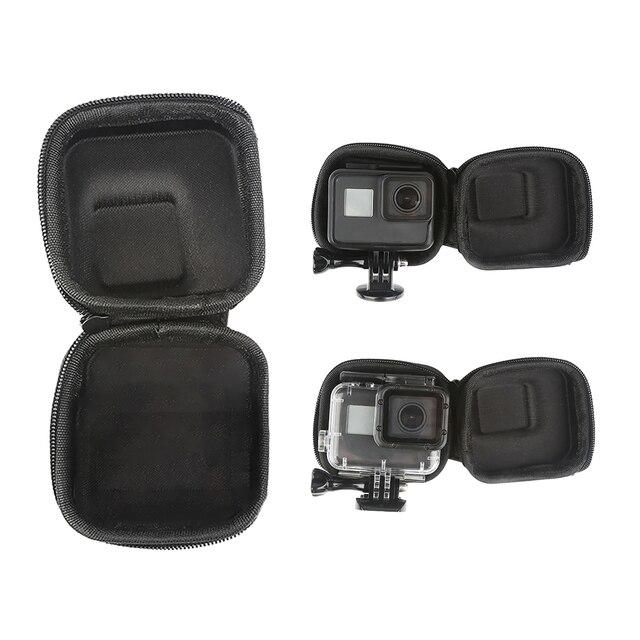 Custodia GoPro Hero 8 7 6 5 Nero Mini EVA di Protezione Caso Di Immagazzinaggio Del Sacchetto Scatola di Montaggio per Go Pro hero 8 7 5 Nero Accessori In Argento 5