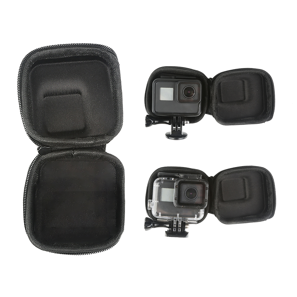 Image 5 - SHOOT for GoPro Hero 8 7 6 5 Black Mini EVA Protective Storage Case Bag Box Mount for Go Pro Hero 7 8 5 Black Silver Accessories-in Sports Camcorder Cases from Consumer Electronics