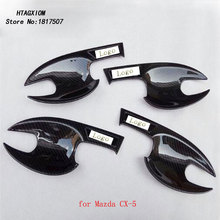 Door Handle Bowl Covers for Mazda CX-5 CX-3 2015 2017  Chrome Trim Car Styling Stickers Auto Accessories & Part 4 Pcs цена