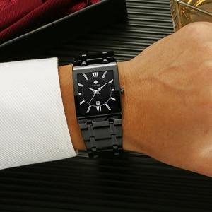 Image 5 - WWOOR Mens Watches Top Brand Luxury Gold Square Analog Quartz Watch Men Wristwatch Waterproof Golden Male Wrist Watch Man Clock