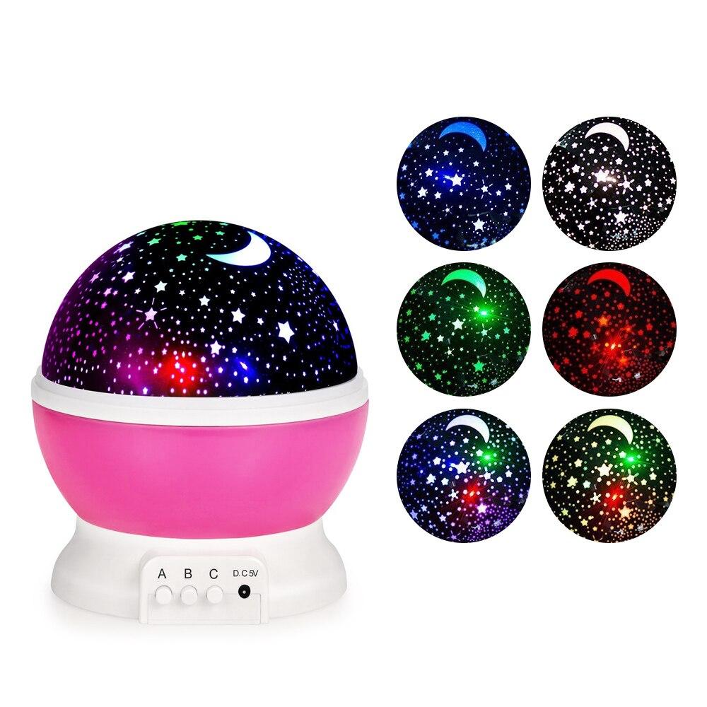 Original LightMe estrellas cielo estrellado de luz LED proyector Luminaria Luna novedad lámpara de mesa de noche batería USB noche Luz