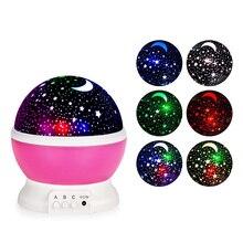 Original LightMe Stars Starry Sky LED Night Light Projector Luminaria Moon Novelty Table Night Lamp Battery USB Night Light