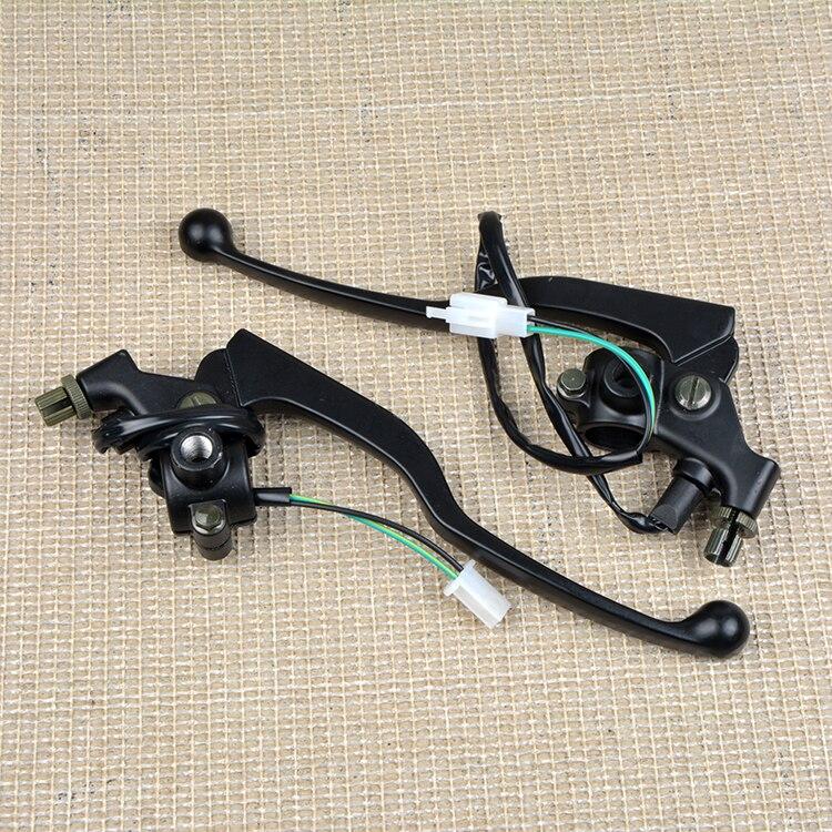 Moto YB125 5VL poignée levier pour Yamaha 125cc YBR 125 avant levier de frein avec embrayage levier de frein feu stop câble