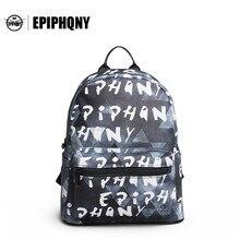Epiphqny бренд рюкзак корейский стиль Рюкзаки Обувь для девочек Колледж сумка Печать Новый досуга модные backbag элегантное 51154
