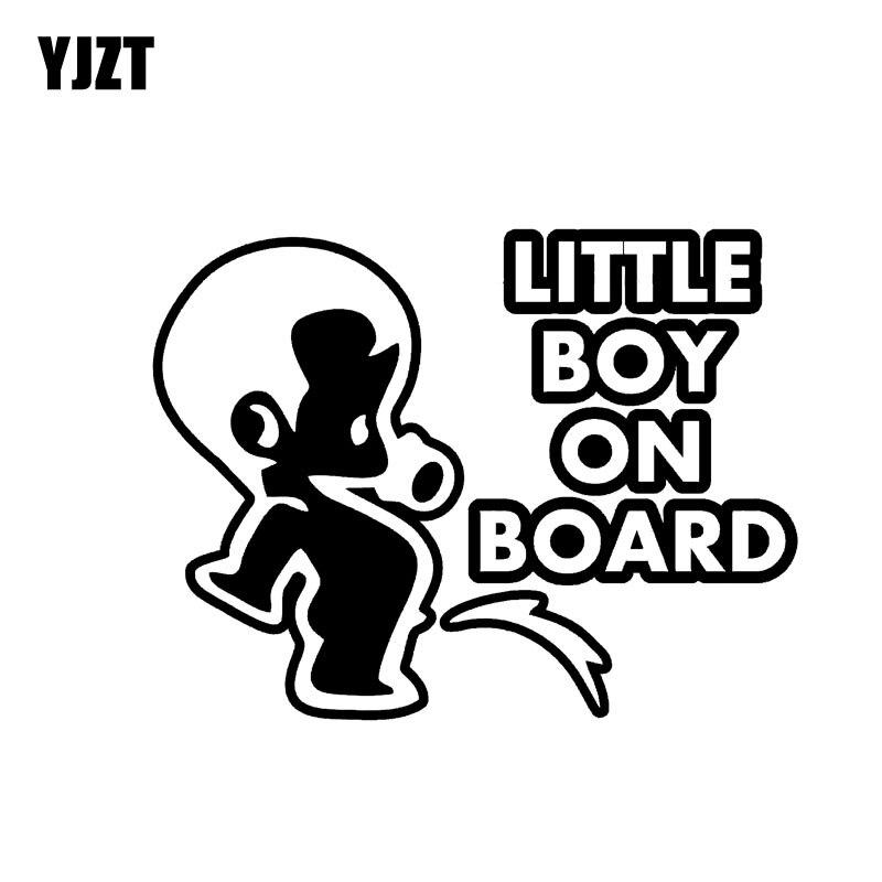 YJZT 14,5 см * 11 см для маленьких мальчиков на борту мочиться детей Предупреждение знак виниловая наклейка Стикеры черный/серебристый c10-00775