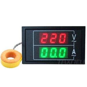 Image 2 - DL85 AC80 500V 100A 60A Dual Display Voltage Current Meter Detector Frequency Meter Amperimetro LED Voltmeter Ammeter AC Meter