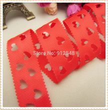 MD818 FREE SHIPPING hot sale 28mm hollow Love solid Grosgrain Ribbon, Clothing accessories, DIY handmade materials
