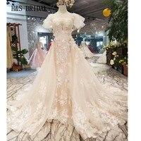 H & S свадебные Съемная Поезд торжественное платье с цветочной аппликацией торжественные платья Свадебное платье Элегантное халат de marieevestidos