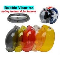 (1 cái & 5 màu) bán hàng nóng!! evo xe máy mũ bảo hiểm visor máy bay phản lực retro hallar vintage bong bóng visor nửa mặt helmet mask phụ kiện